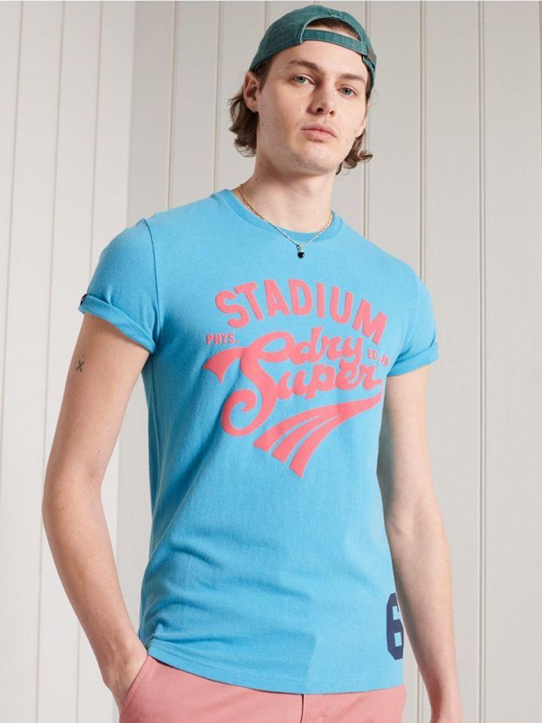 Superdry Ocean Blue Collegiate Graphic Standard Weight T-Shirt