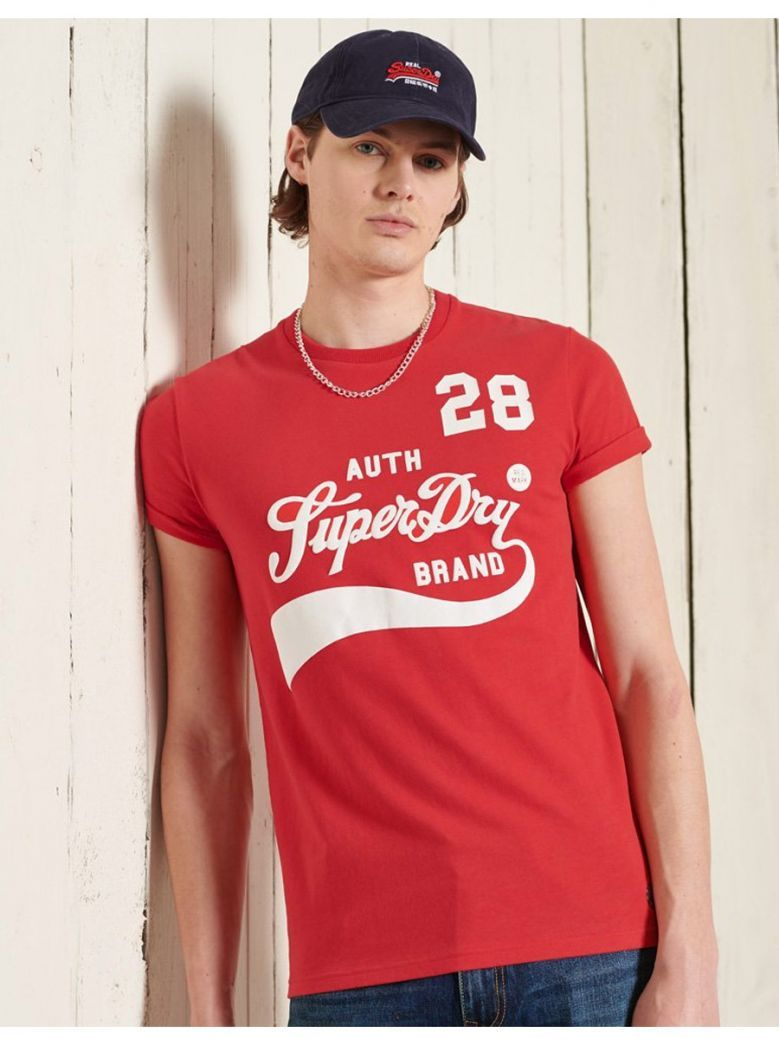 Superdry Drop Kick Red Collegiate Graphic Standard Weight T-Shirt