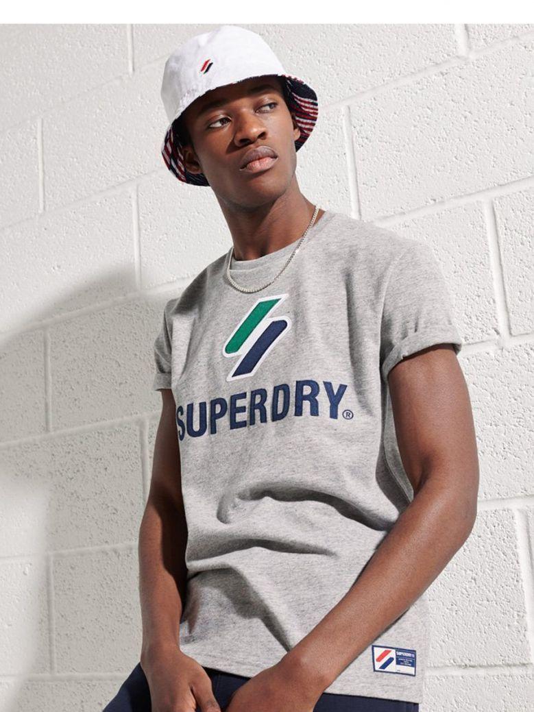Superdry Grey Slub Grindle Sportstyle Classic T-Shirt