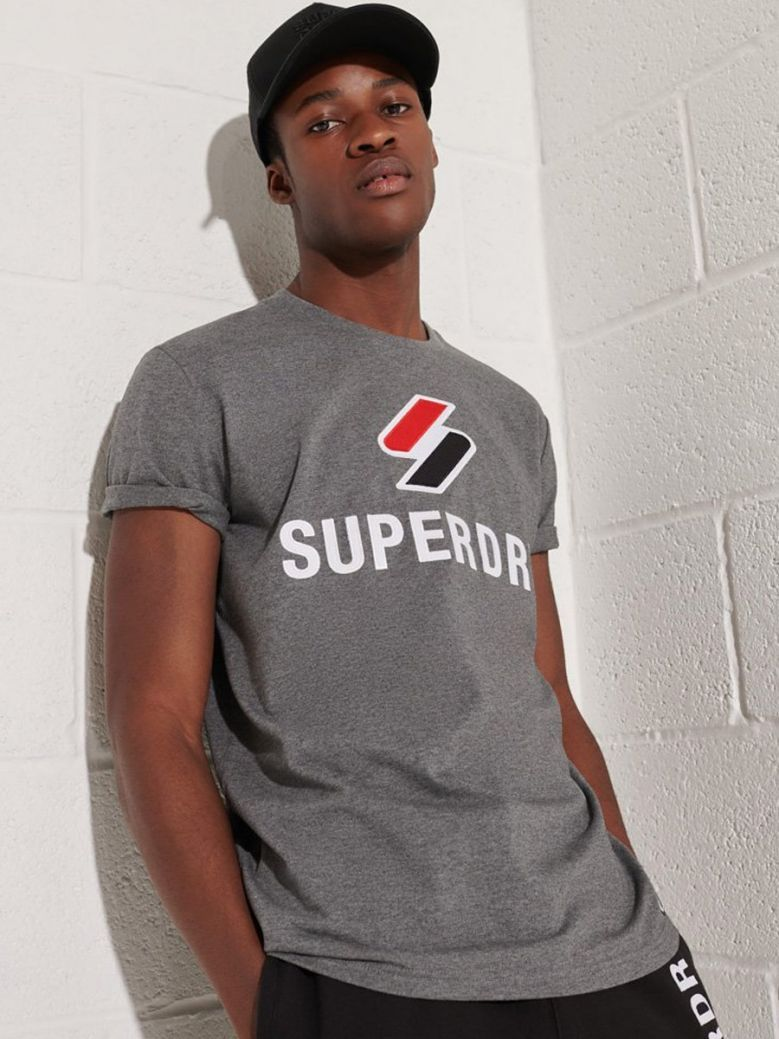 Superdry Mid Grey Marl Sportstyle Classic T-Shirt