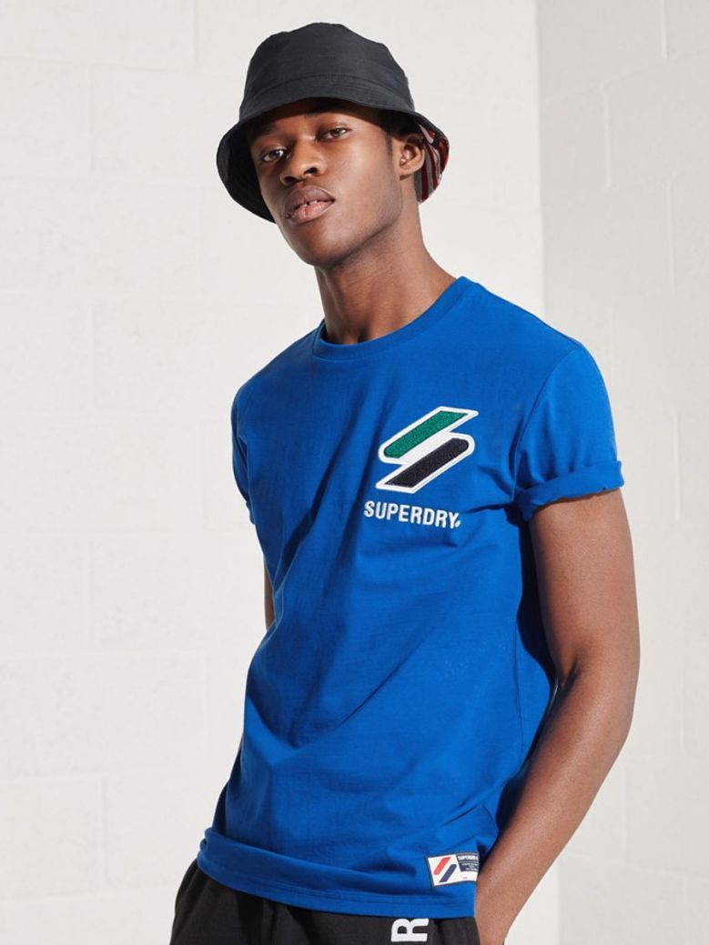 Superdry Royal Sportstyle Chenille T-Shirt
