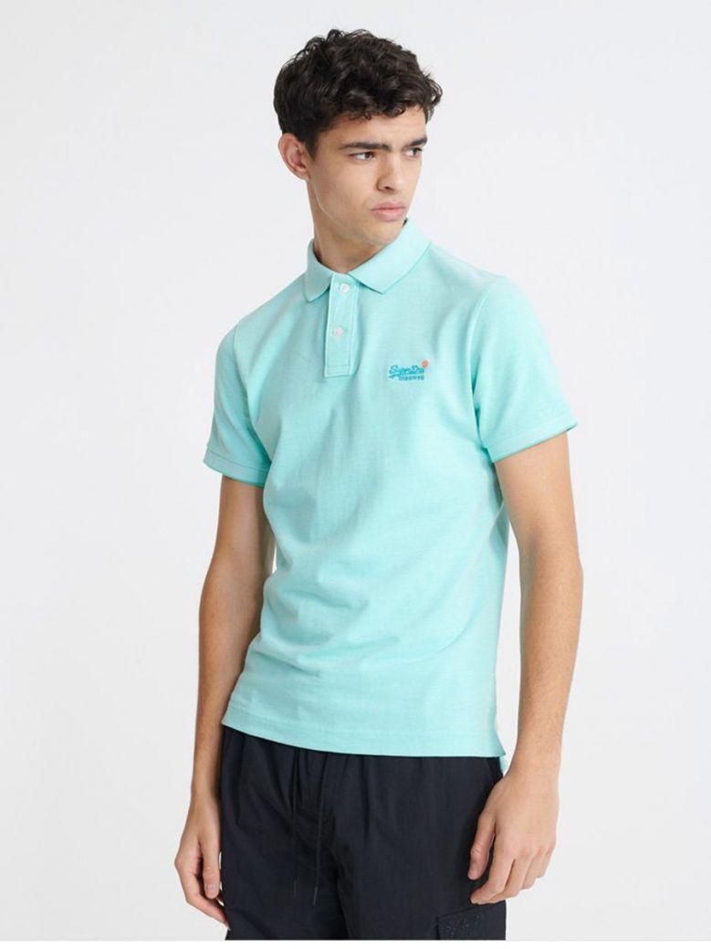 Superdry Spearmint Classic Pique Short Sleeve Polo Shirt