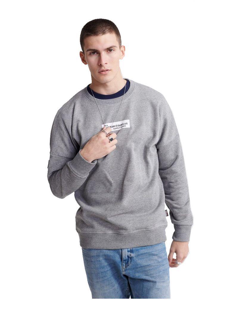 Superdry Speckle Grit Surplus Goods Loopback Crew Sweatshirt