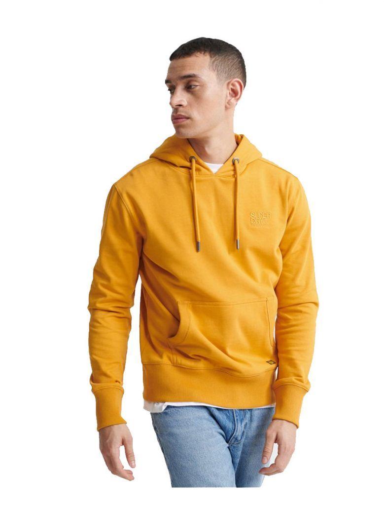 Superdry Mustard Denim Goods Co Loopback Hoodie