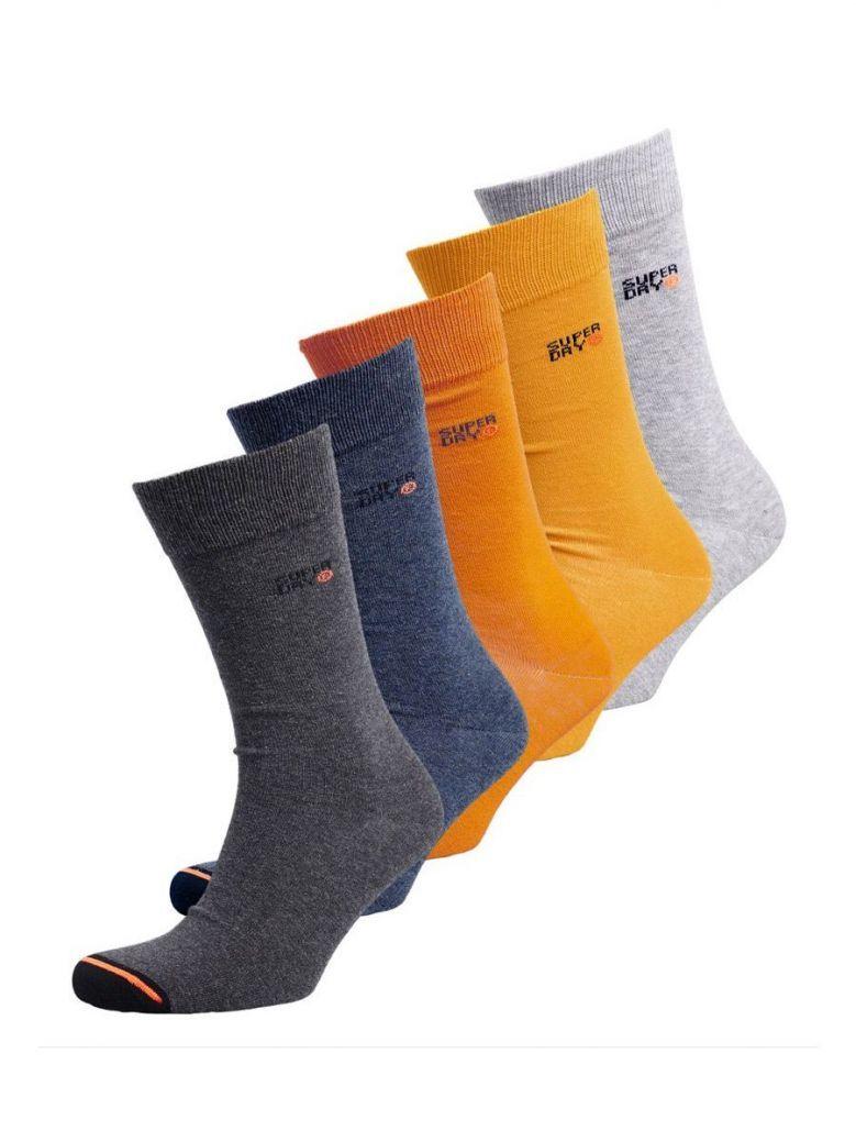 Superdry Orange Multipack Organic Cotton City Sock (Five Pack)