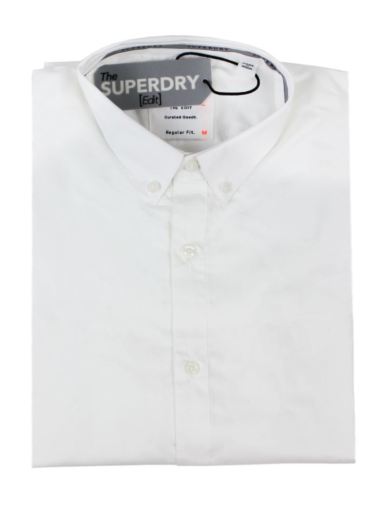 The Superdry Edit Optic White Button Down Long Sleeve Shirt