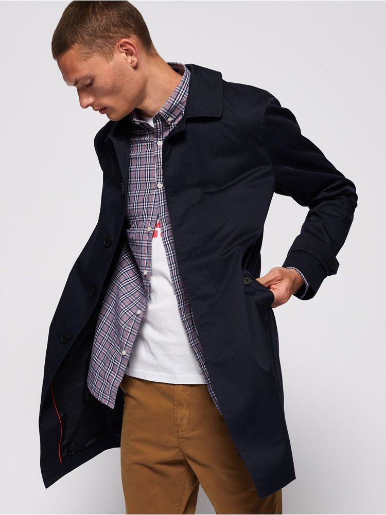 The Superdry Edit Nautical Navy Single Breasted Mac Jacket