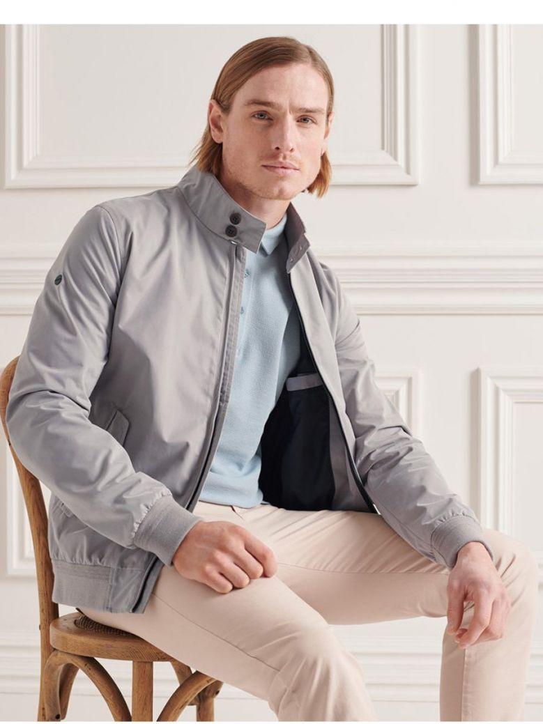 Superdry Flat Grey Iconic Harrington Jacket