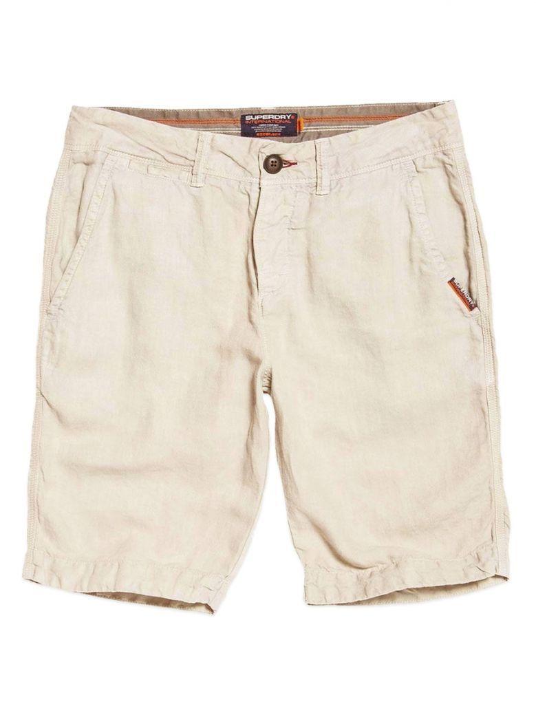 Superdry Pebble International Linen Chino Shorts