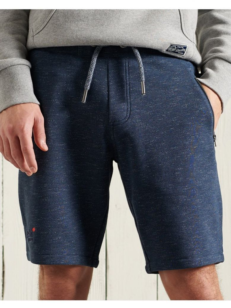 Superdry Abyss Navy Feeder Orange Label Classic Shorts