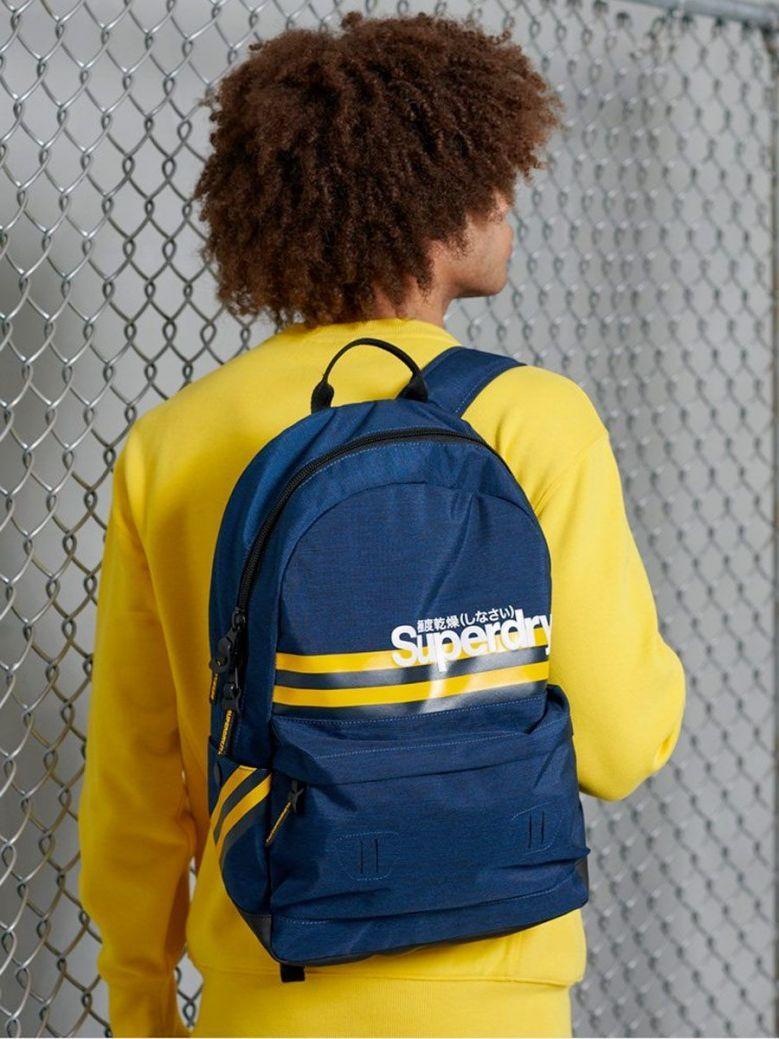 Superdry Blue Montuak Stripe Montana Backpack