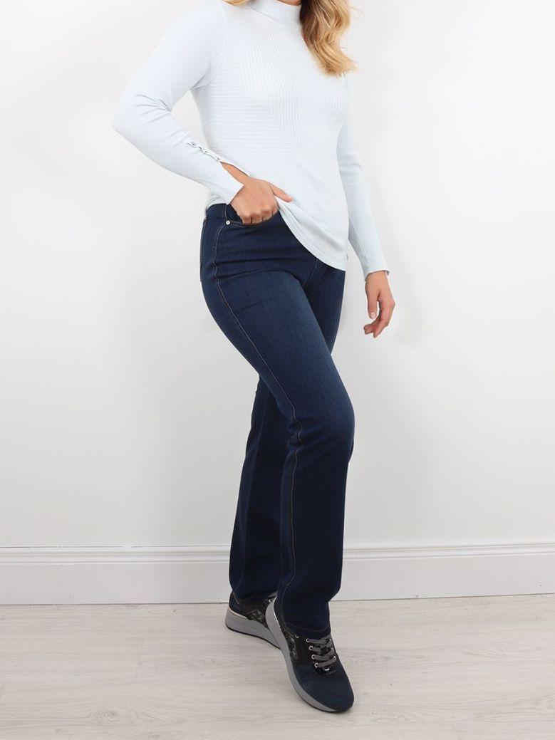 Marble Skinny Straight Jeans Mid Denim