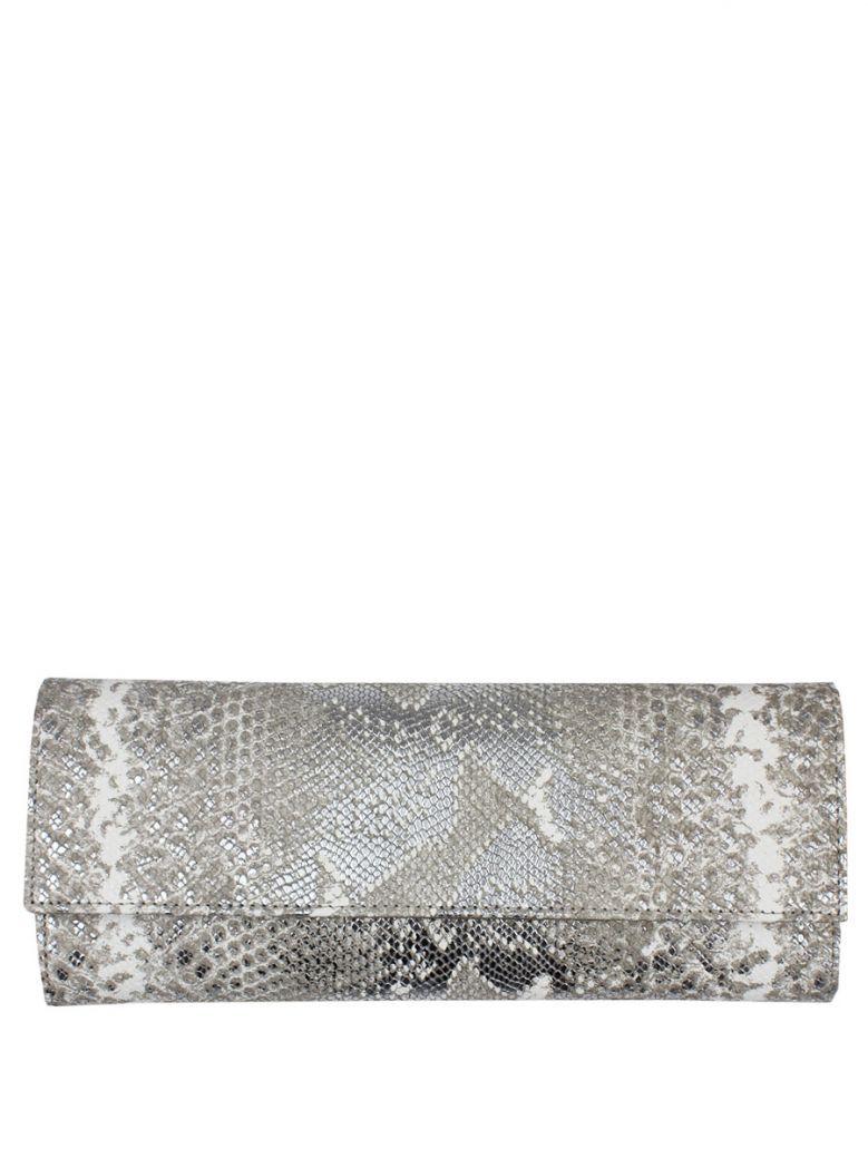 Lisa Kay Metallic Python Mary Print Clutch Bag