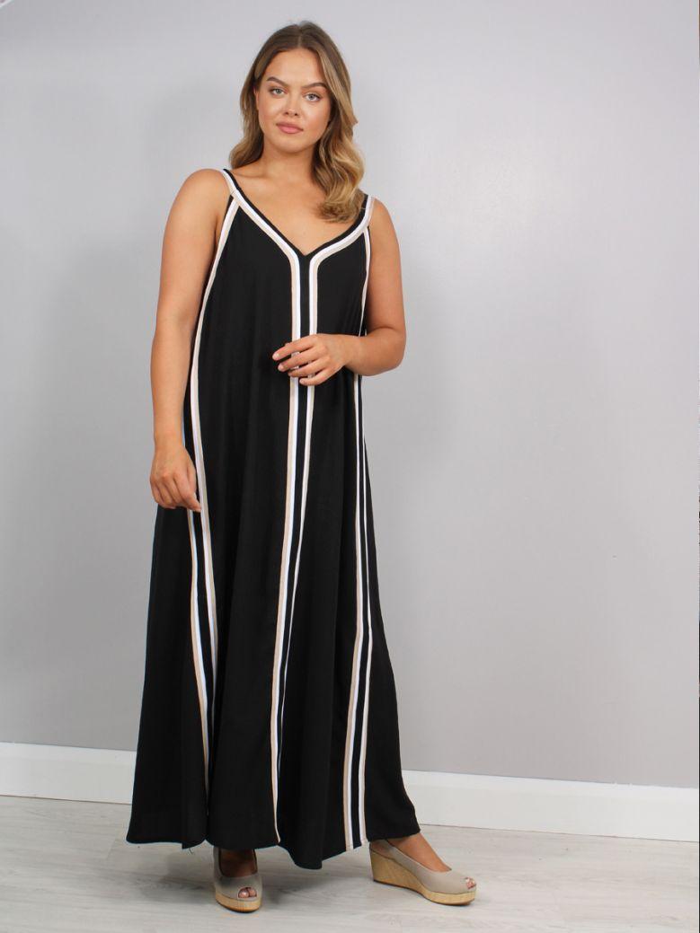 Mat Sleeveless Dress Black