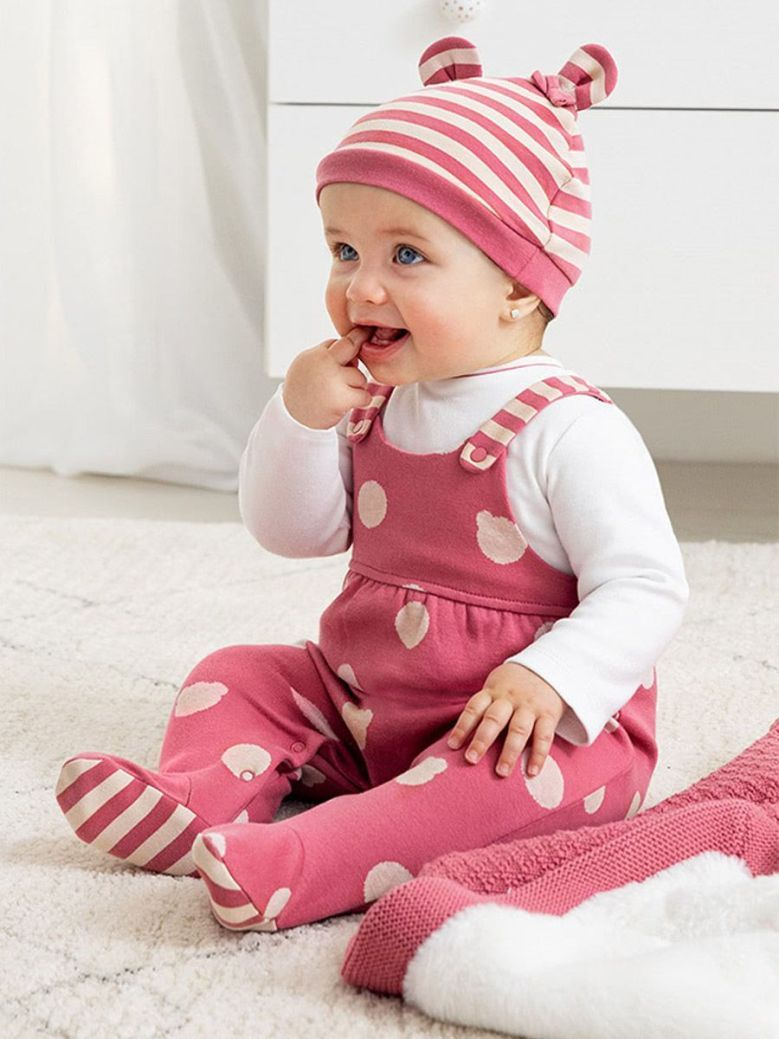 Mayoral ECOFRIENDS Dungarees With Hat Cranberry