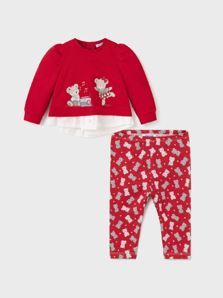 Mayoral ECOFRIENDS Leggings And Top Set Red