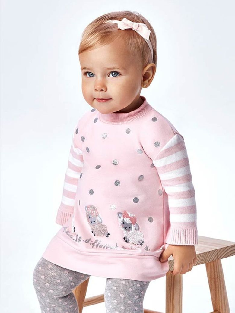 Mayoral Combined Soft Dress Pink