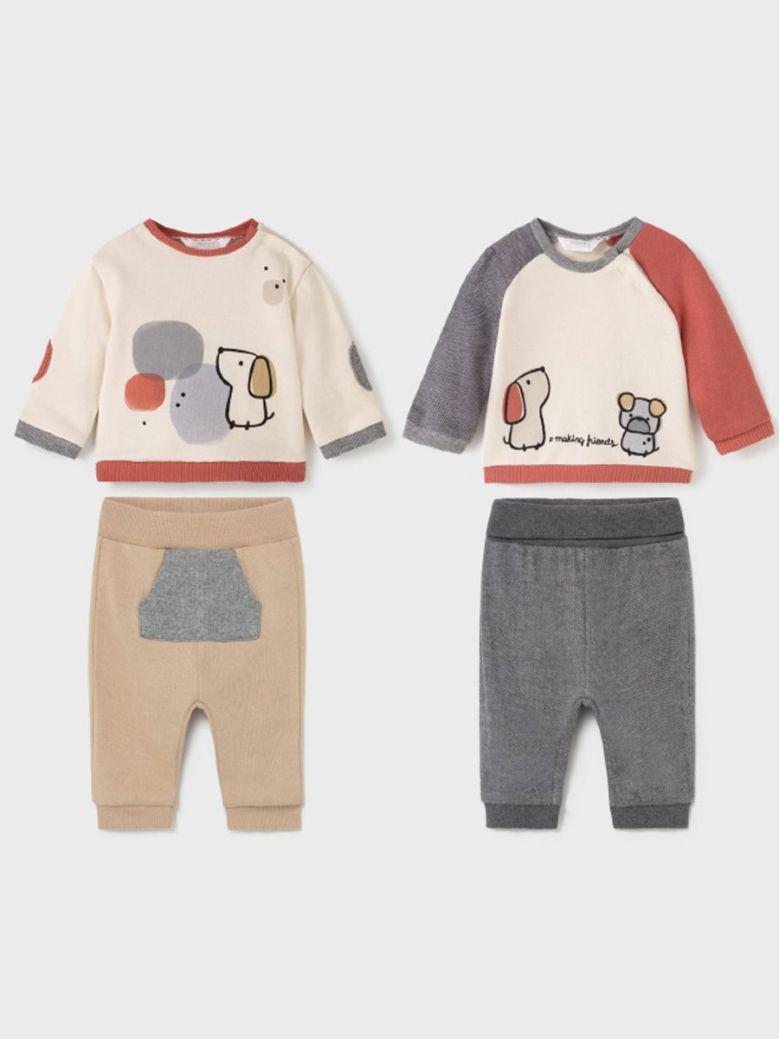 Mayoral Baby Boy Animal Applique 4 Piece Set Multi