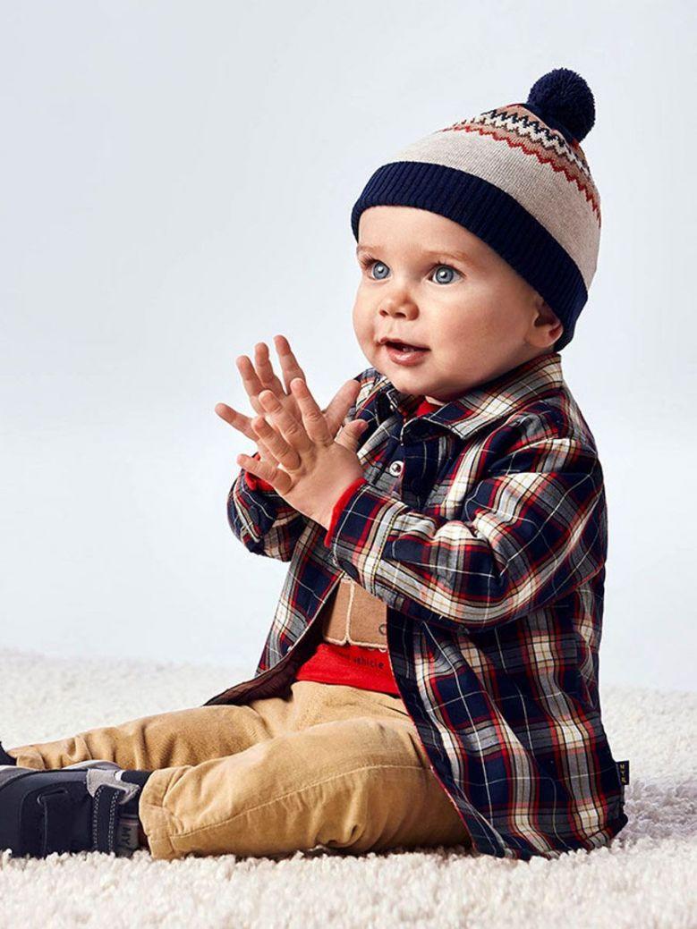 Mayoral Baby Boy Check Overshirt Blue
