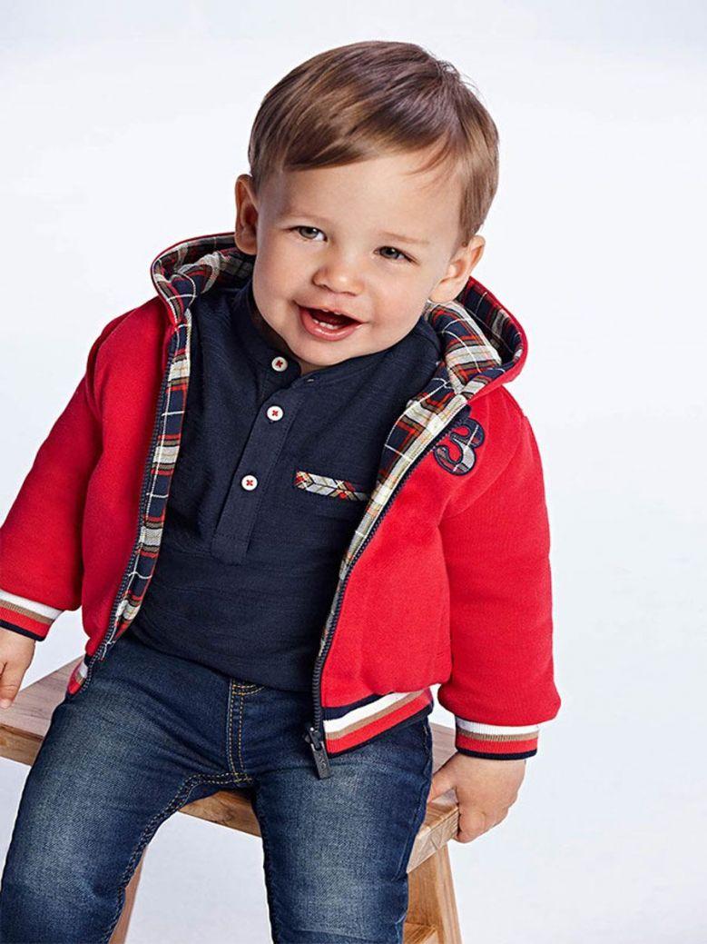 Mayoral Baby Boy Reversible Hoodie Red