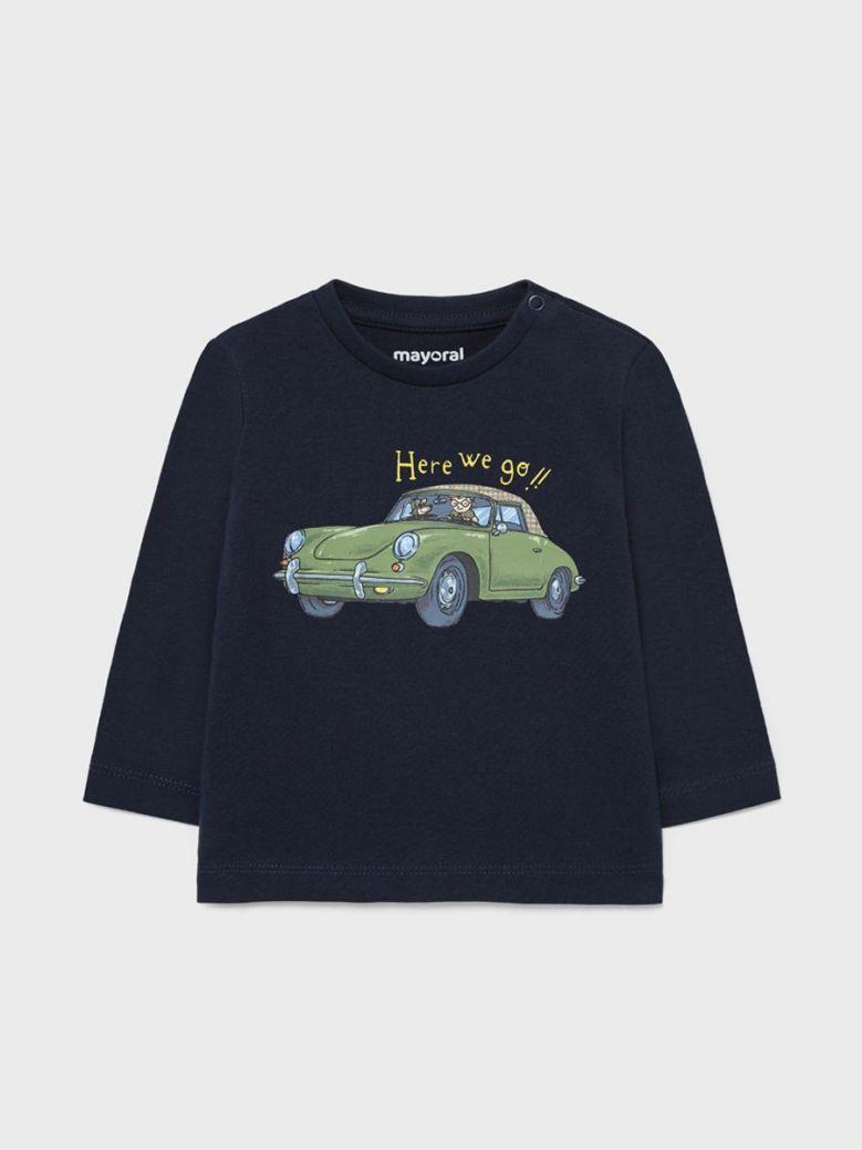 Mayoral ECOFRIENDS Long Sleeve Car T-Shirt Navy