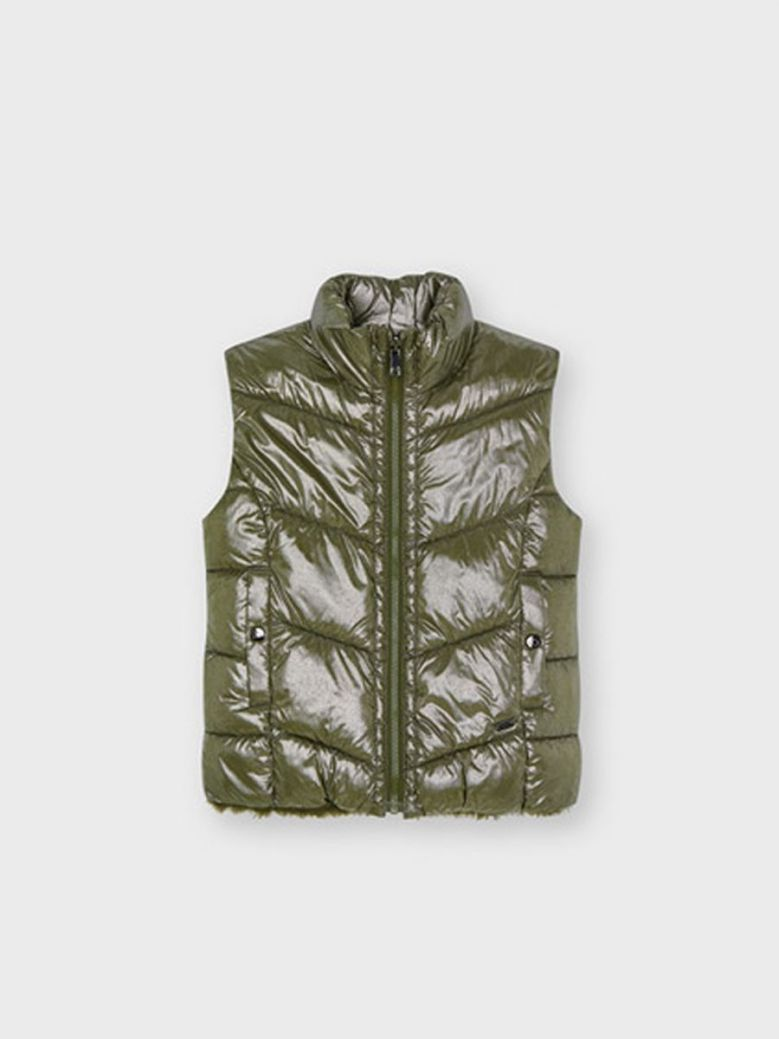 Mayoral ECOFRIENDS Reversible Gilet For Girl Green