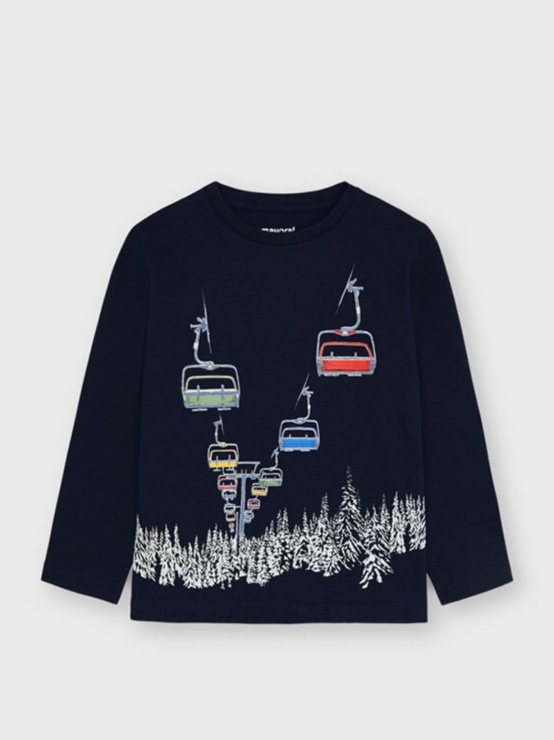 Mayoral Glow in the Dark Cable Car T-Shirt Black