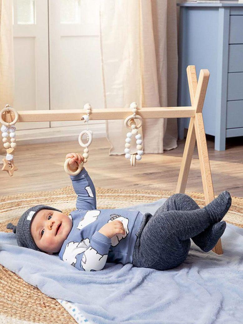 Mayoral Newborn Polar Bear 3 Piece Set Baby Blue