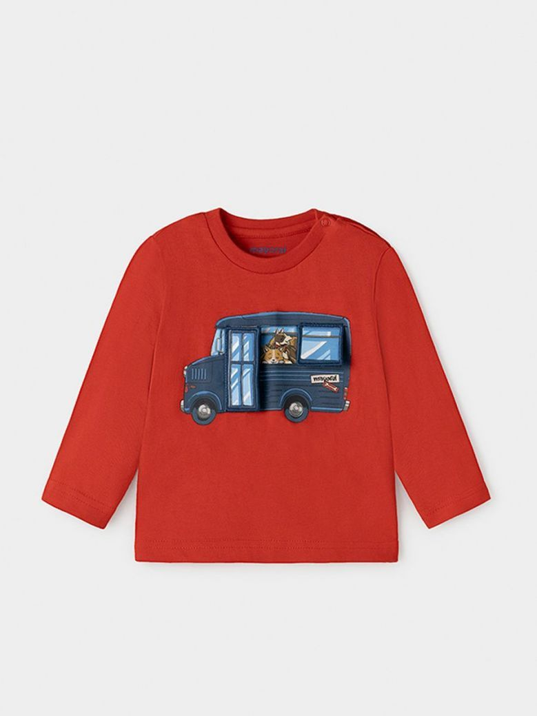 Mayoral Play With Long-Sleeve T-Shirt Red