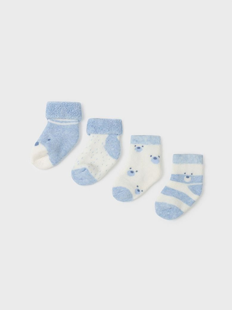 Mayoral Set Of Four Socks For Boy Blue