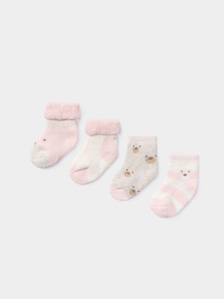 Mayoral Set Of Four Socks For Girl Pink