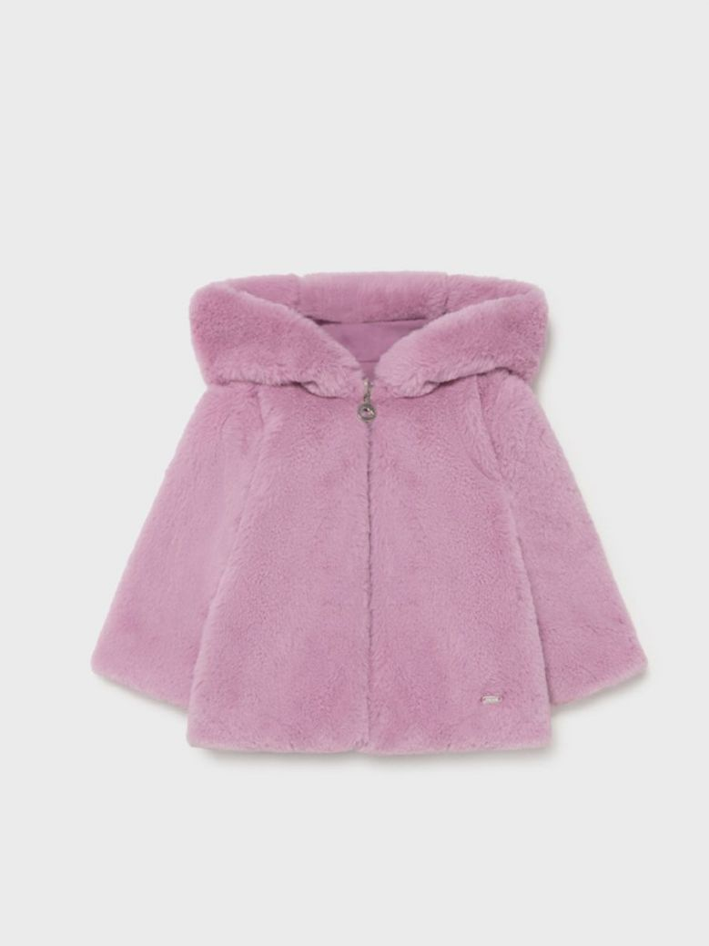 Mayoral Soft Coat For Girl Purple