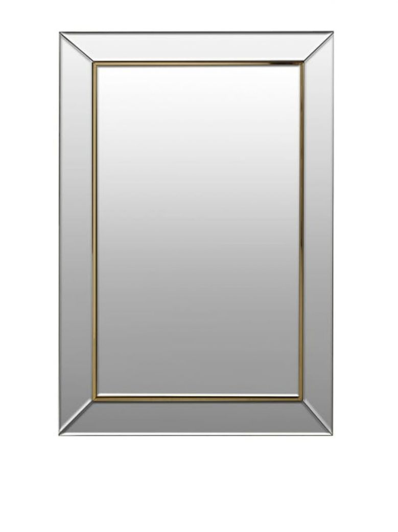 Large Gold Trim Mirror