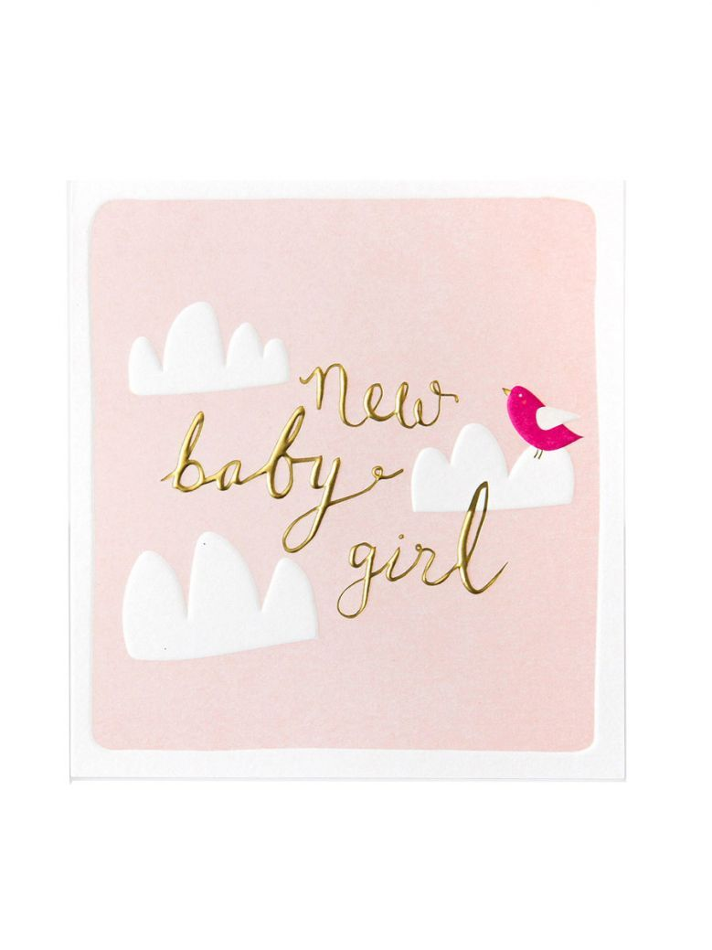 Caroline Gardner New Baby Girl Card