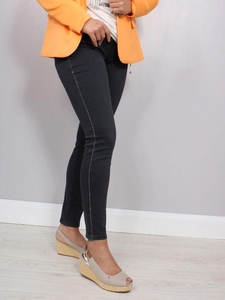 Monari 5 Pocket Jeans with Rhinestones Black