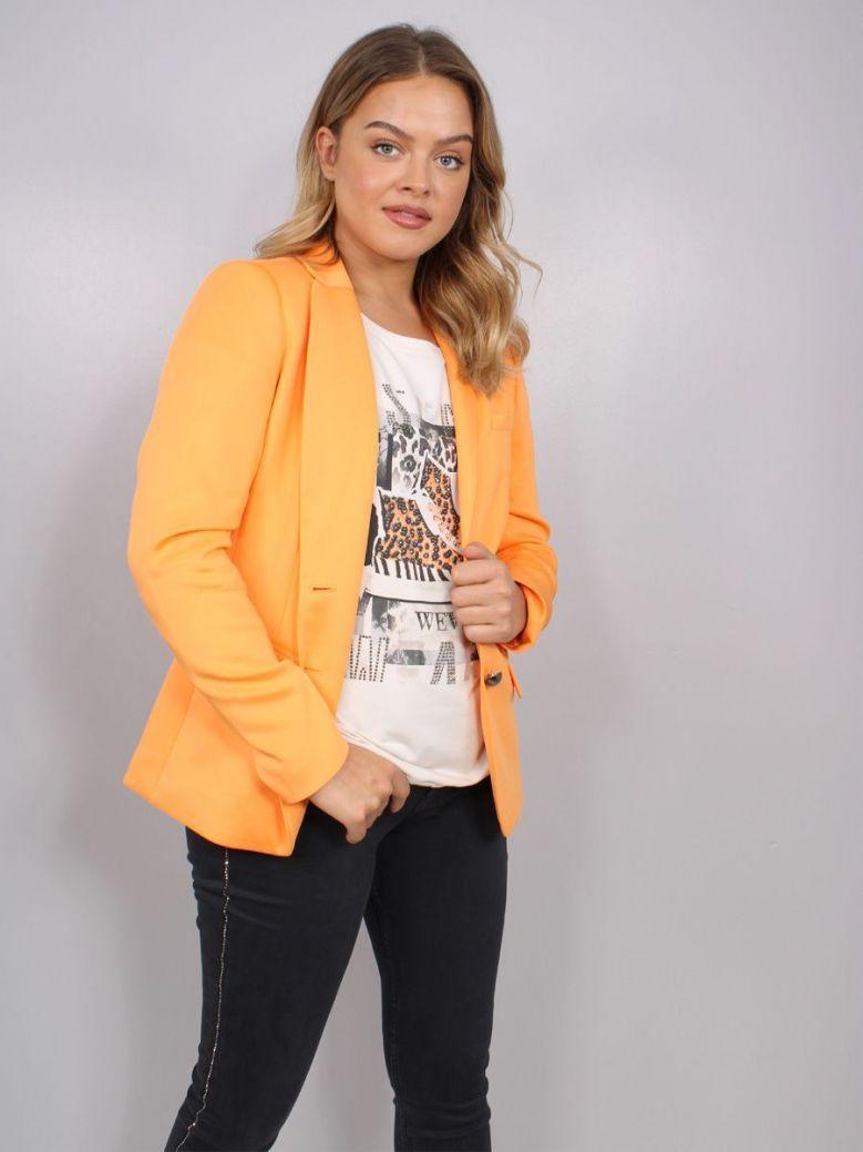 Monari Blazer with Lapel Collar Orange