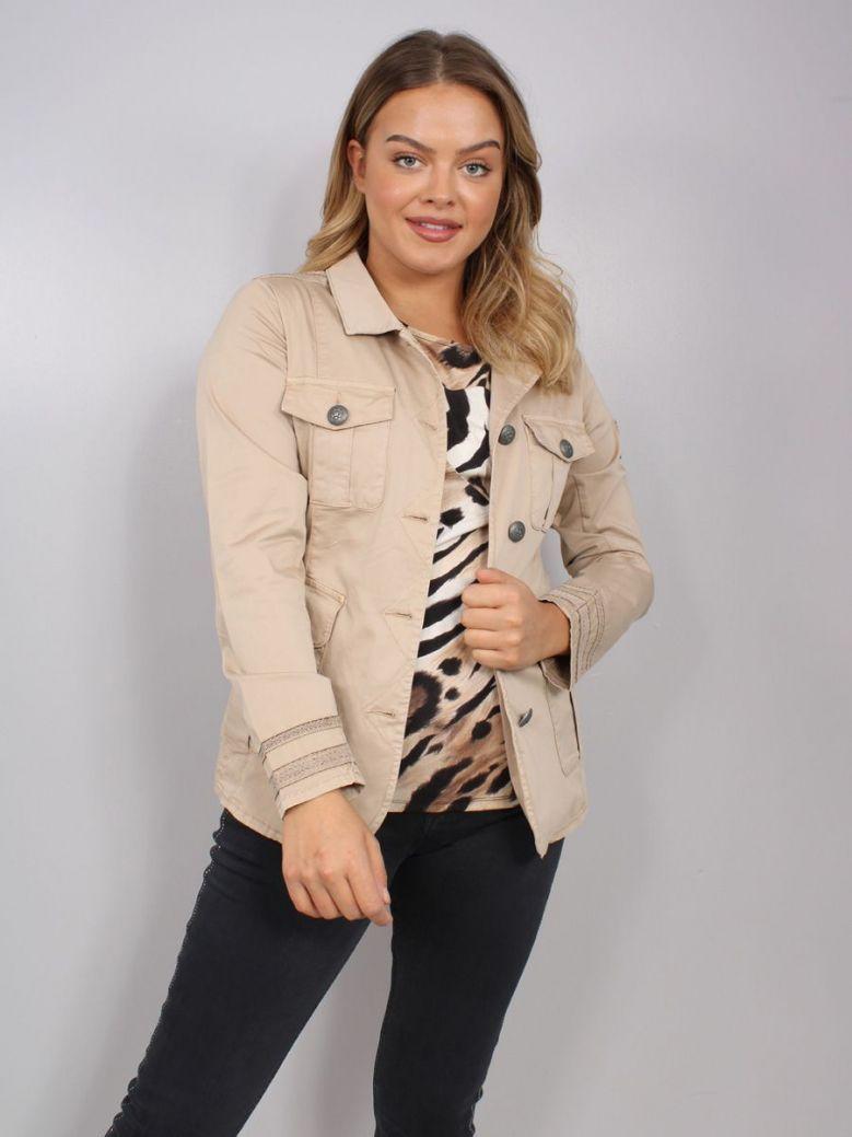 Monari Shirt Jacket Tan