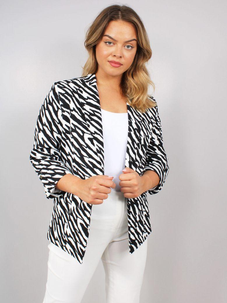 Monari Zebra Design Blazer Black