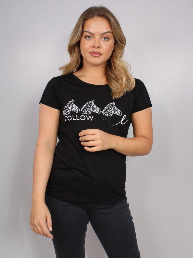 Monari Zebra Logo T-Shirt Black