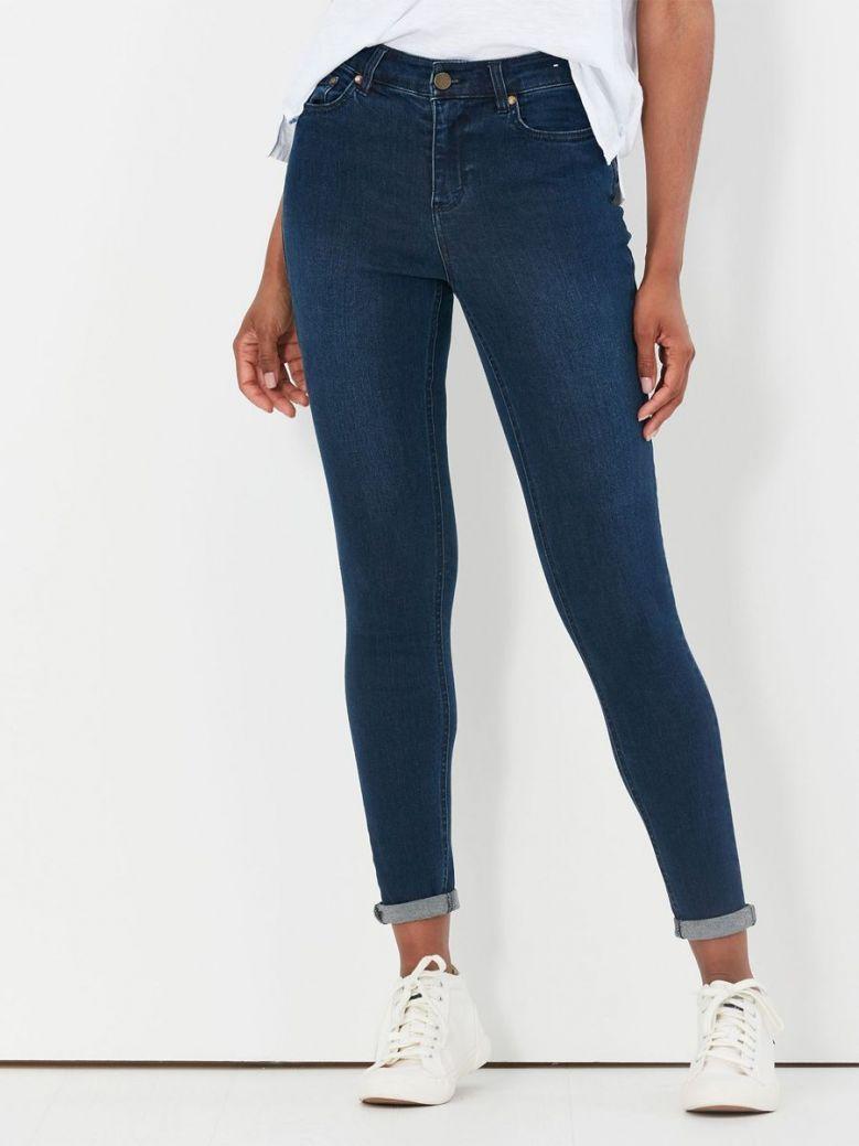 Joules Monroe High Rise Stretch Skinny Jeans Indigo
