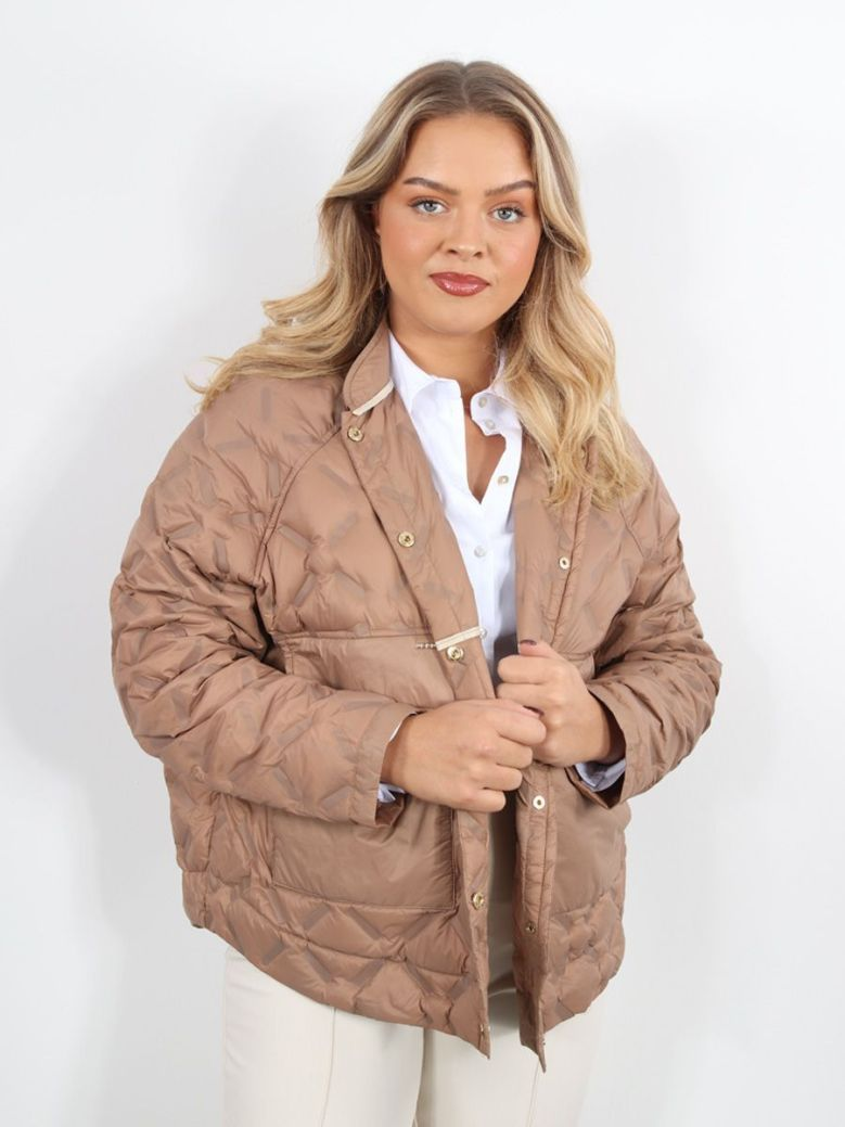 Mos Mosh Khaite Quilted Down Jacket Brown