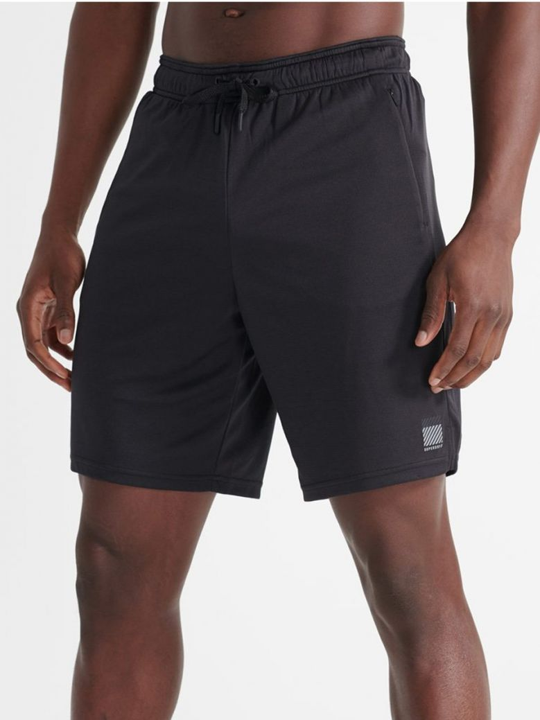Superdry Black Training Relaxed Shorts