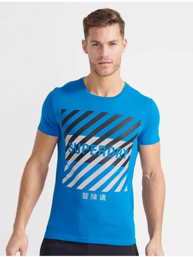 Superdry Naval Blue Training Coresport Graphic T-Shirt