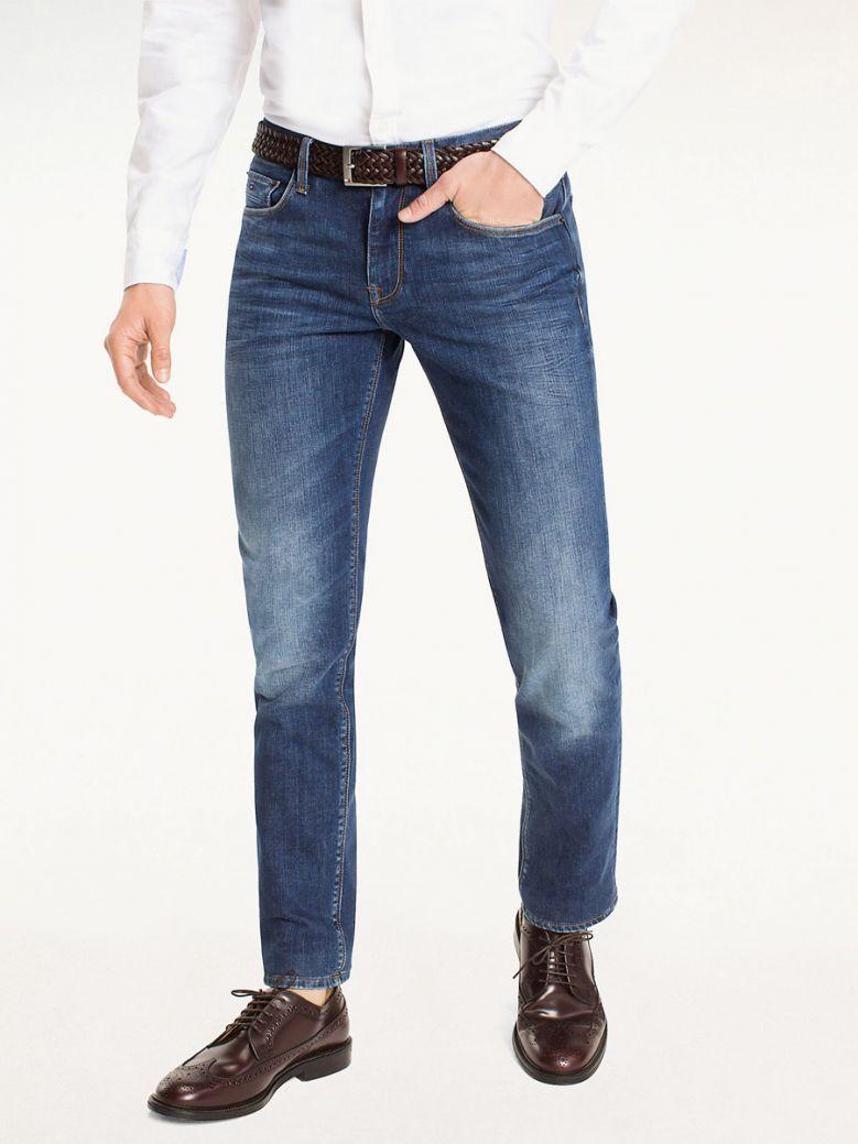 Tommy Hilfiger Mens Denim Denton Straight Fit Jeans