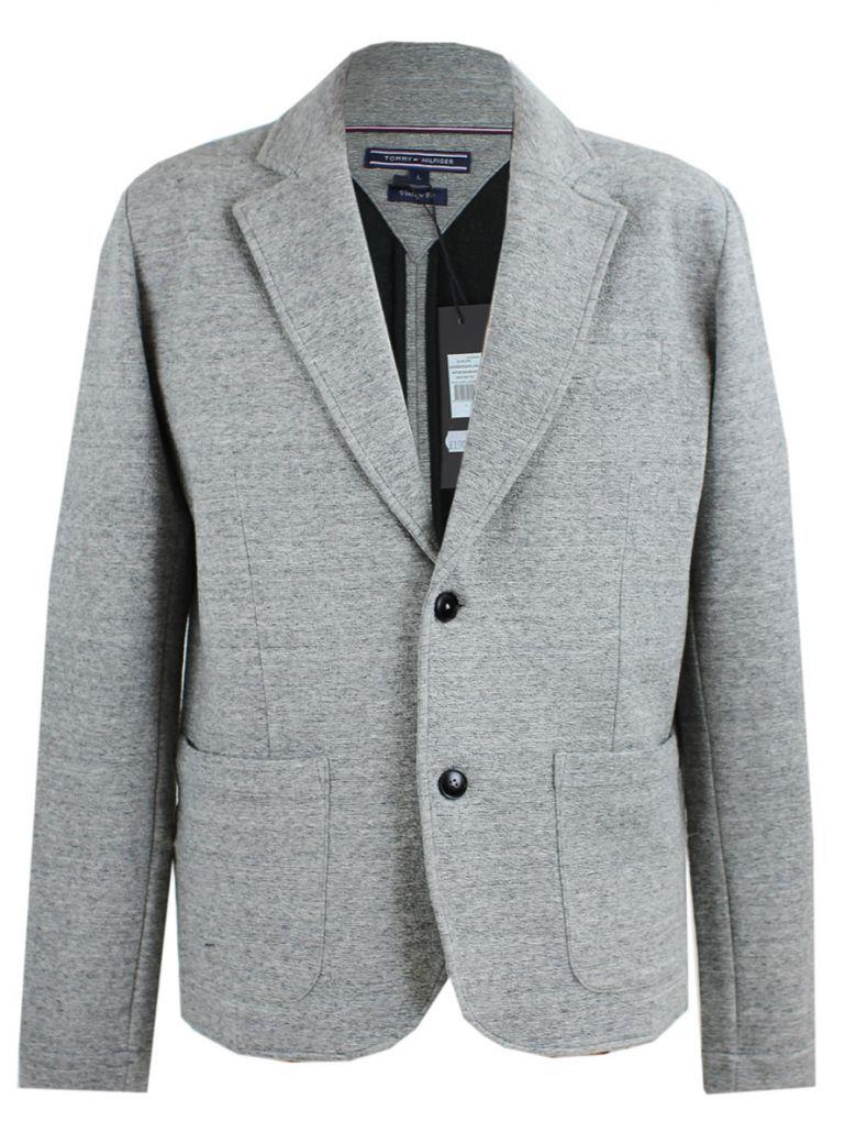 Tommy Hilfiger Grey Knitted Regular Fit Blazer