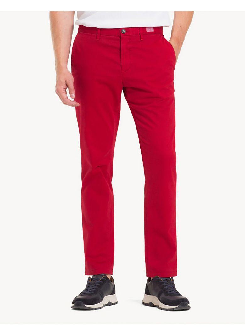 Tommy Hilfiger Haut Red Denton Flex Straight Leg Chino