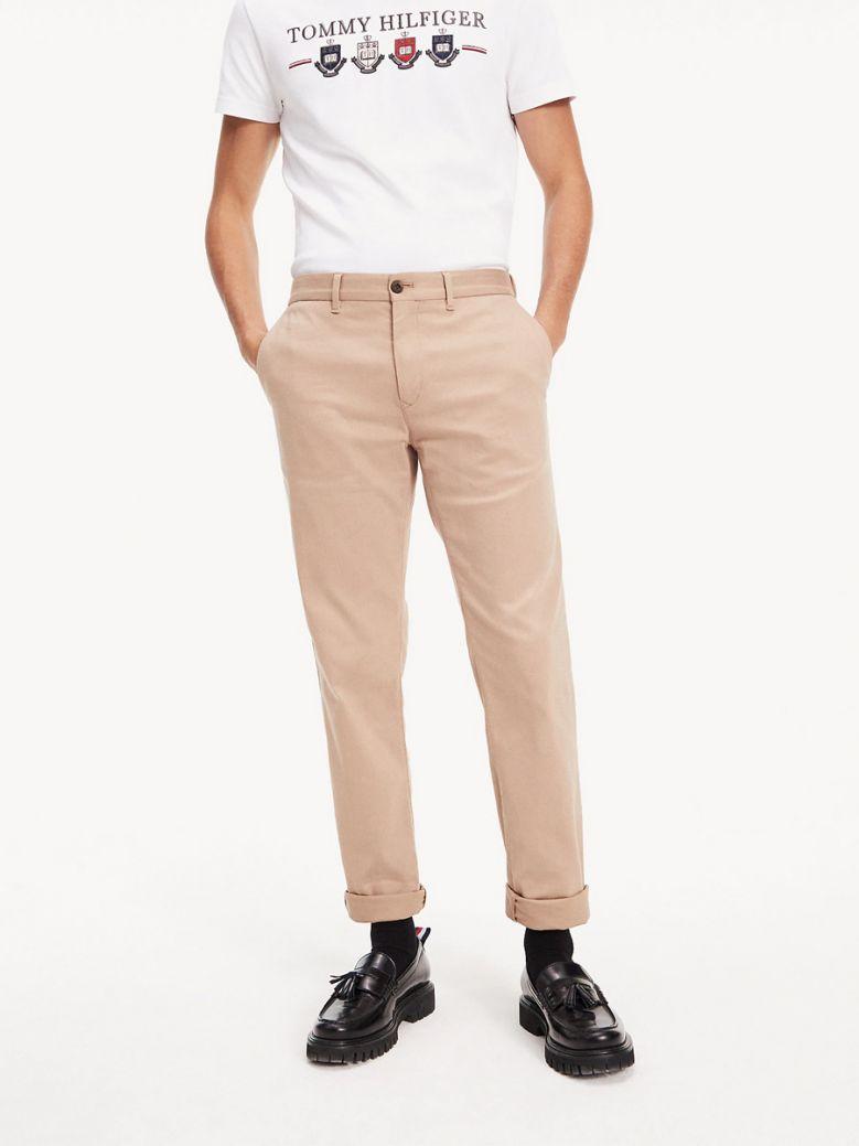 Tommy Hilfiger Batique Khaki Flex Tapered Trousers