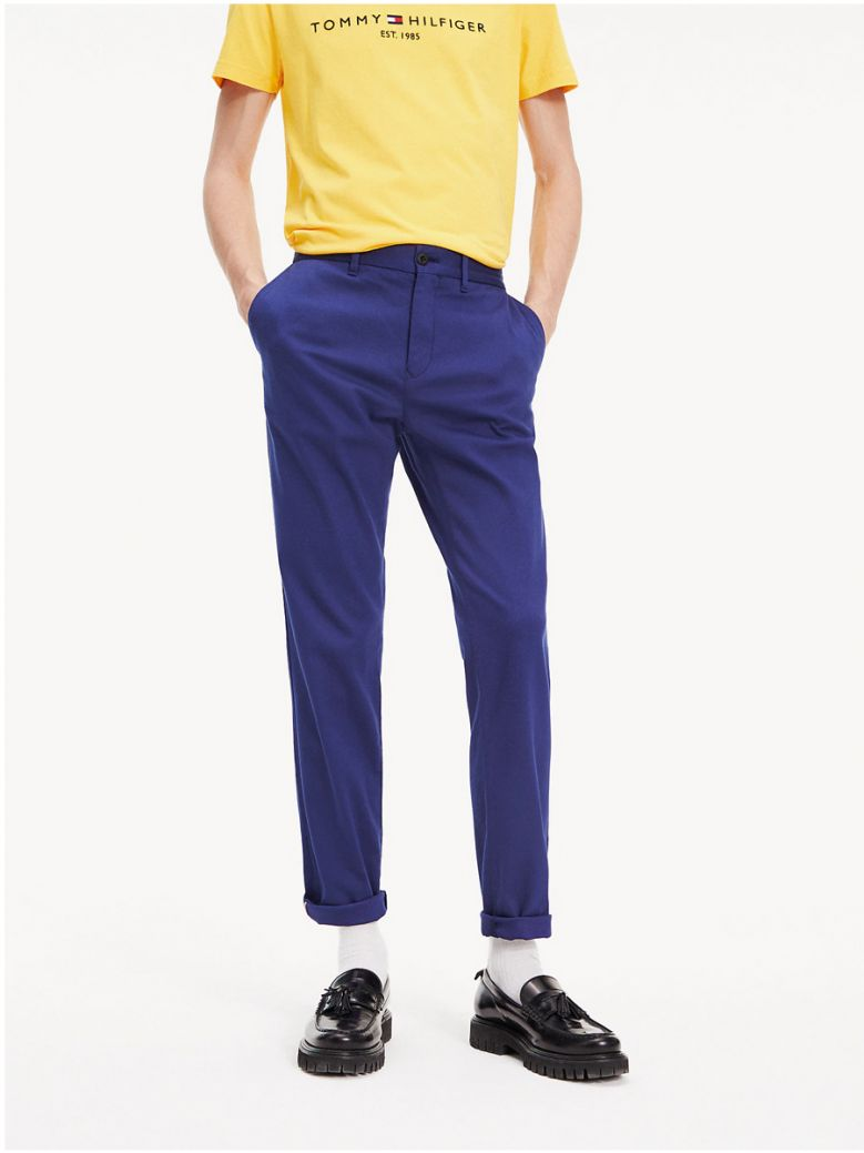 Tommy Hilfiger Medieval Blue Flex Tapered Trousers