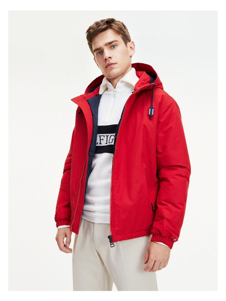 Tommy Hilfiger Primary Red Hooded Jacket