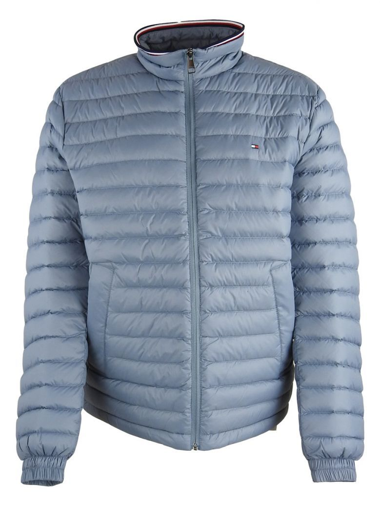 Tommy Hilfiger Mens Flint Blue Packable Down Jacket